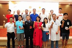 Chinese donors and volunteers in Hunan, China
